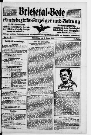 Briesetal-Bote vom 17.01.1918
