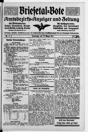 Briesetal-Bote vom 24.01.1918