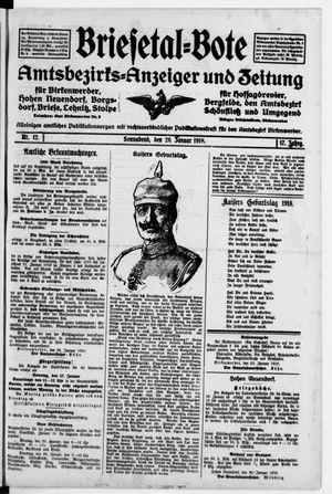 Briesetal-Bote vom 26.01.1918