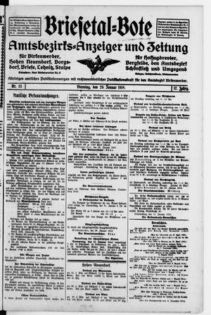 Briesetal-Bote vom 29.01.1918