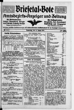 Briesetal-Bote vom 31.01.1918