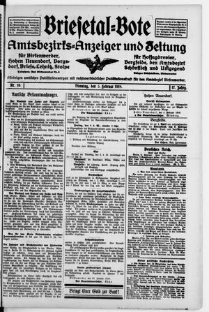Briesetal-Bote vom 05.02.1918