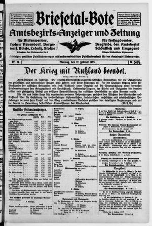 Briesetal-Bote vom 12.02.1918