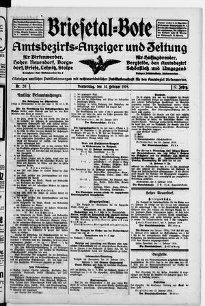 Briesetal-Bote on Feb 14, 1918