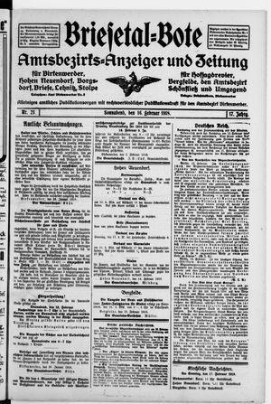 Briesetal-Bote vom 16.02.1918