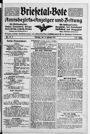 Briesetal-Bote vom 19.02.1918