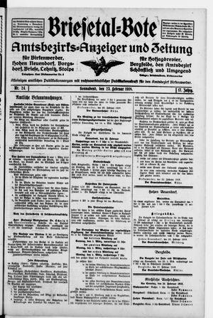 Briesetal-Bote vom 23.02.1918