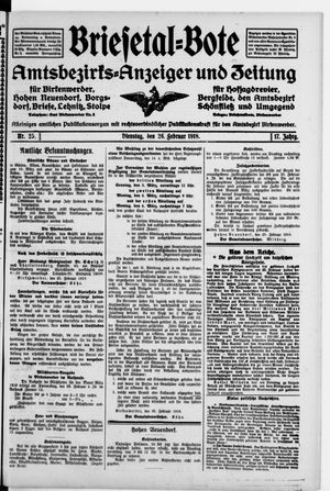 Briesetal-Bote vom 26.02.1918