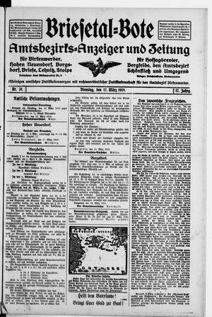 Briesetal-Bote vom 12.03.1918