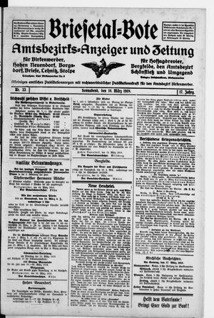Briesetal-Bote vom 16.03.1918