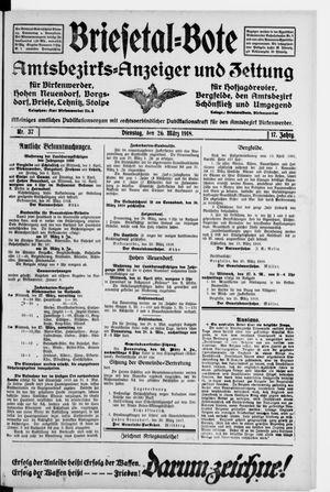 Briesetal-Bote vom 26.03.1918