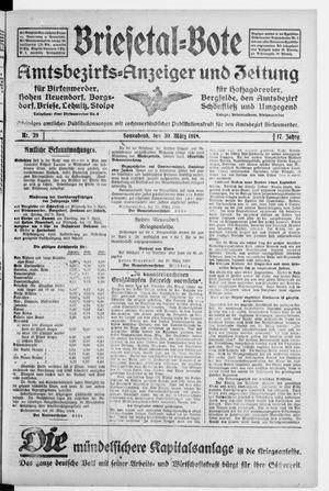 Briesetal-Bote vom 30.03.1918
