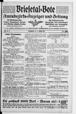 Briesetal-Bote vom 06.04.1918