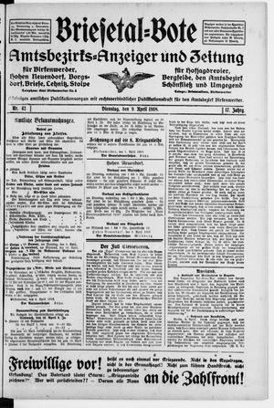 Briesetal-Bote vom 09.04.1918