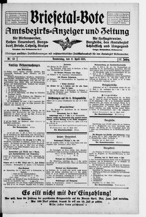 Briesetal-Bote vom 11.04.1918
