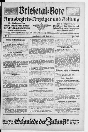 Briesetal-Bote vom 13.04.1918