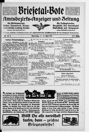 Briesetal-Bote on Apr 18, 1918