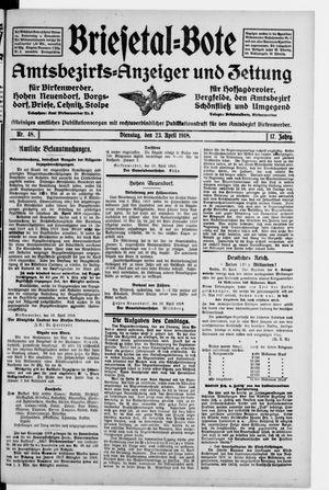 Briesetal-Bote vom 23.04.1918