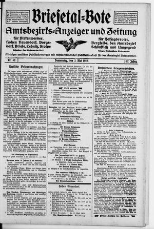 Briesetal-Bote vom 02.05.1918