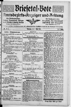 Briesetal-Bote on May 7, 1918