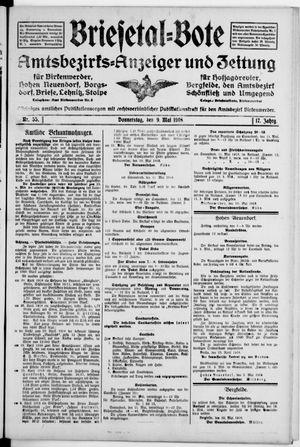 Briesetal-Bote on May 9, 1918