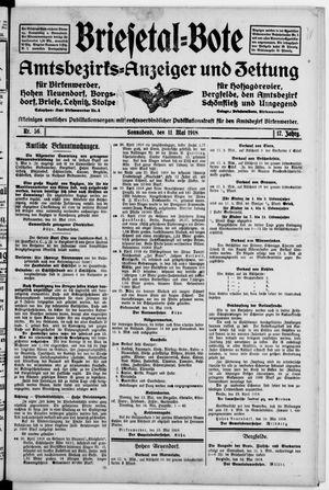 Briesetal-Bote vom 11.05.1918