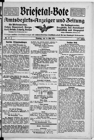 Briesetal-Bote vom 14.05.1918