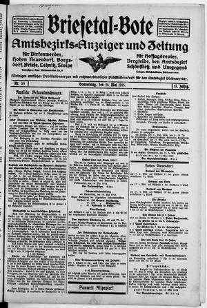 Briesetal-Bote on May 16, 1918