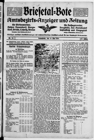Briesetal-Bote vom 18.05.1918