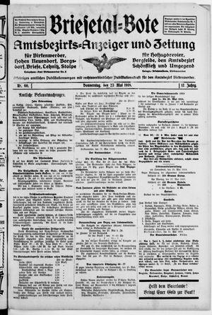 Briesetal-Bote vom 23.05.1918