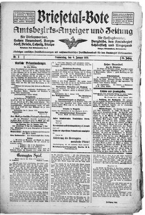 Briesetal-Bote vom 09.01.1919