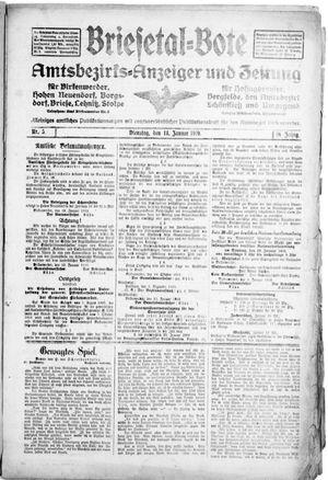 Briesetal-Bote vom 14.01.1919