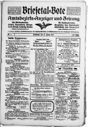 Briesetal-Bote vom 18.01.1919