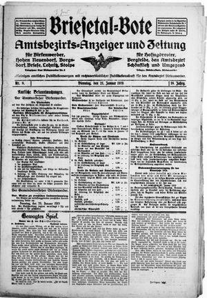 Briesetal-Bote vom 21.01.1919