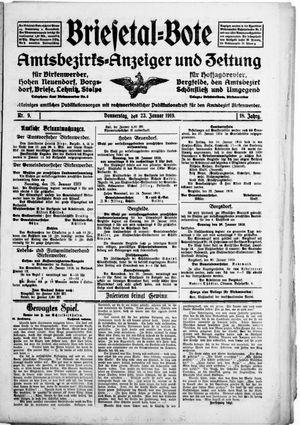 Briesetal-Bote vom 23.01.1919