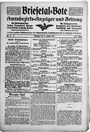 Briesetal-Bote vom 28.01.1919