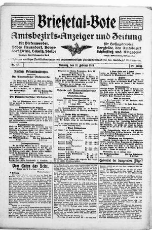 Briesetal-Bote vom 11.02.1919