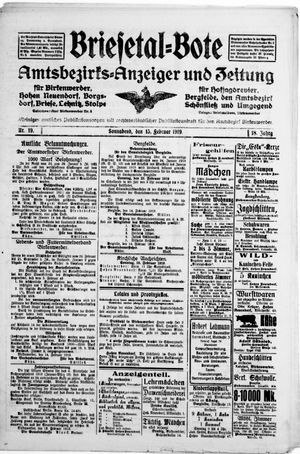 Briesetal-Bote vom 15.02.1919