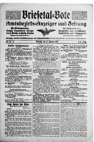 Briesetal-Bote vom 18.02.1919