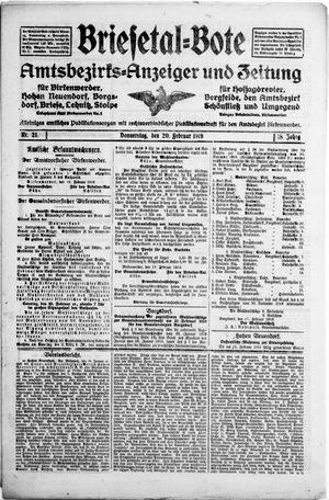 Briesetal-Bote vom 20.02.1919
