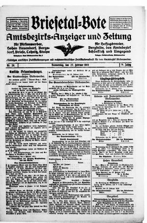 Briesetal-Bote vom 27.02.1919