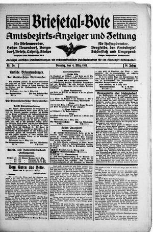 Briesetal-Bote vom 04.03.1919