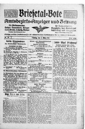 Briesetal-Bote vom 11.03.1919