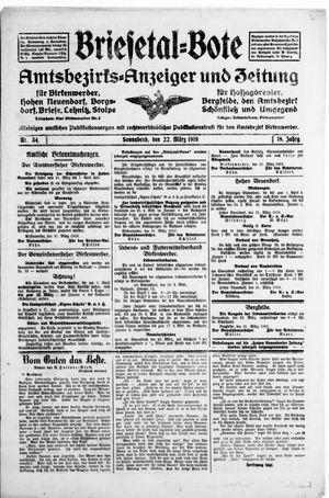 Briesetal-Bote vom 22.03.1919