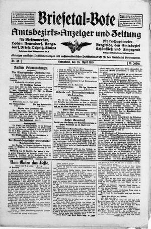 Briesetal-Bote vom 26.04.1919
