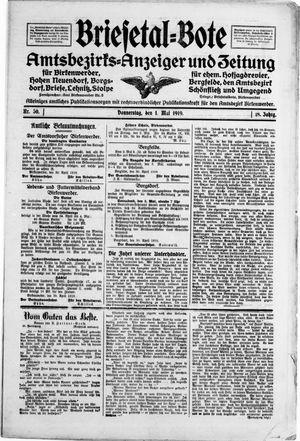 Briesetal-Bote on May 1, 1919