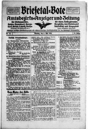 Briesetal-Bote vom 06.05.1919