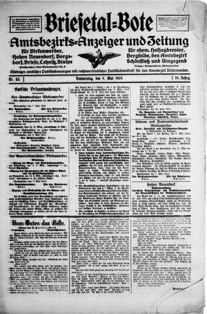 Briesetal-Bote vom 08.05.1919