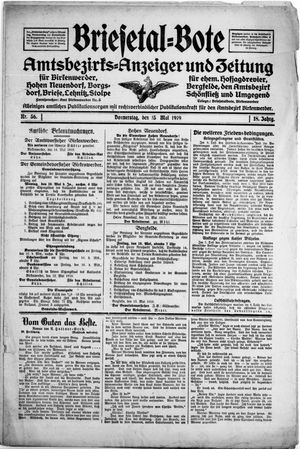 Briesetal-Bote vom 15.05.1919