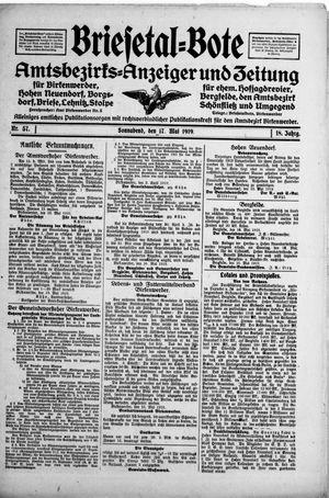 Briesetal-Bote vom 17.05.1919